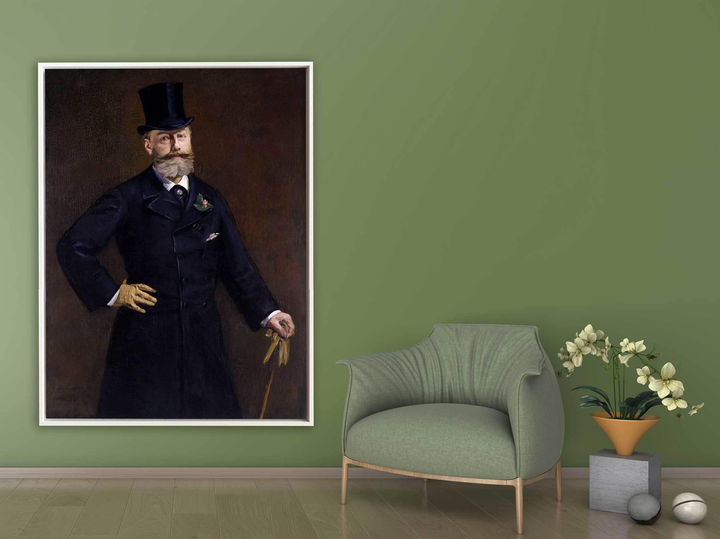 Edouard Manet - Antonin Proust, 1880, Schattenfugenrahmen weiß