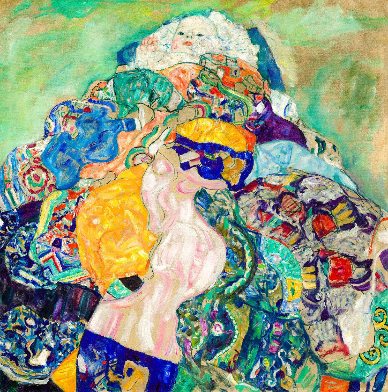 Gustav Klimt - Baby, 1917, Rahmen Schattenfuge schwarz