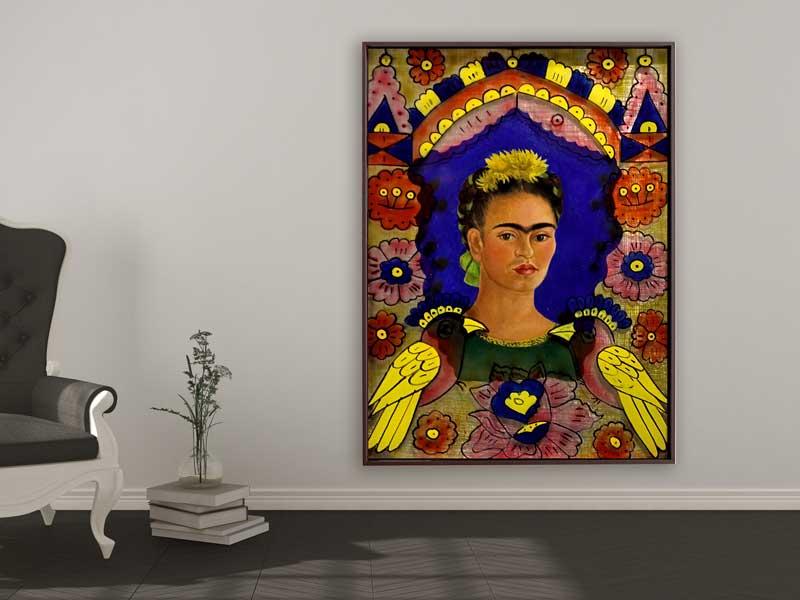 Frida Kahlo - The Frame, 1938, Schattenfugenrahmen braun