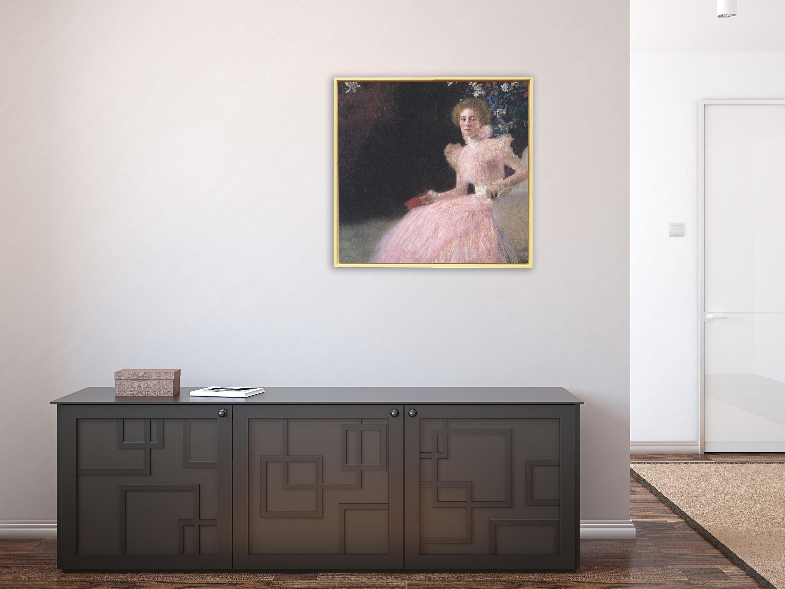 Gustav Klimt - Bildnis Sonja Knips von 1898, Rahmen Schattenfuge Natur