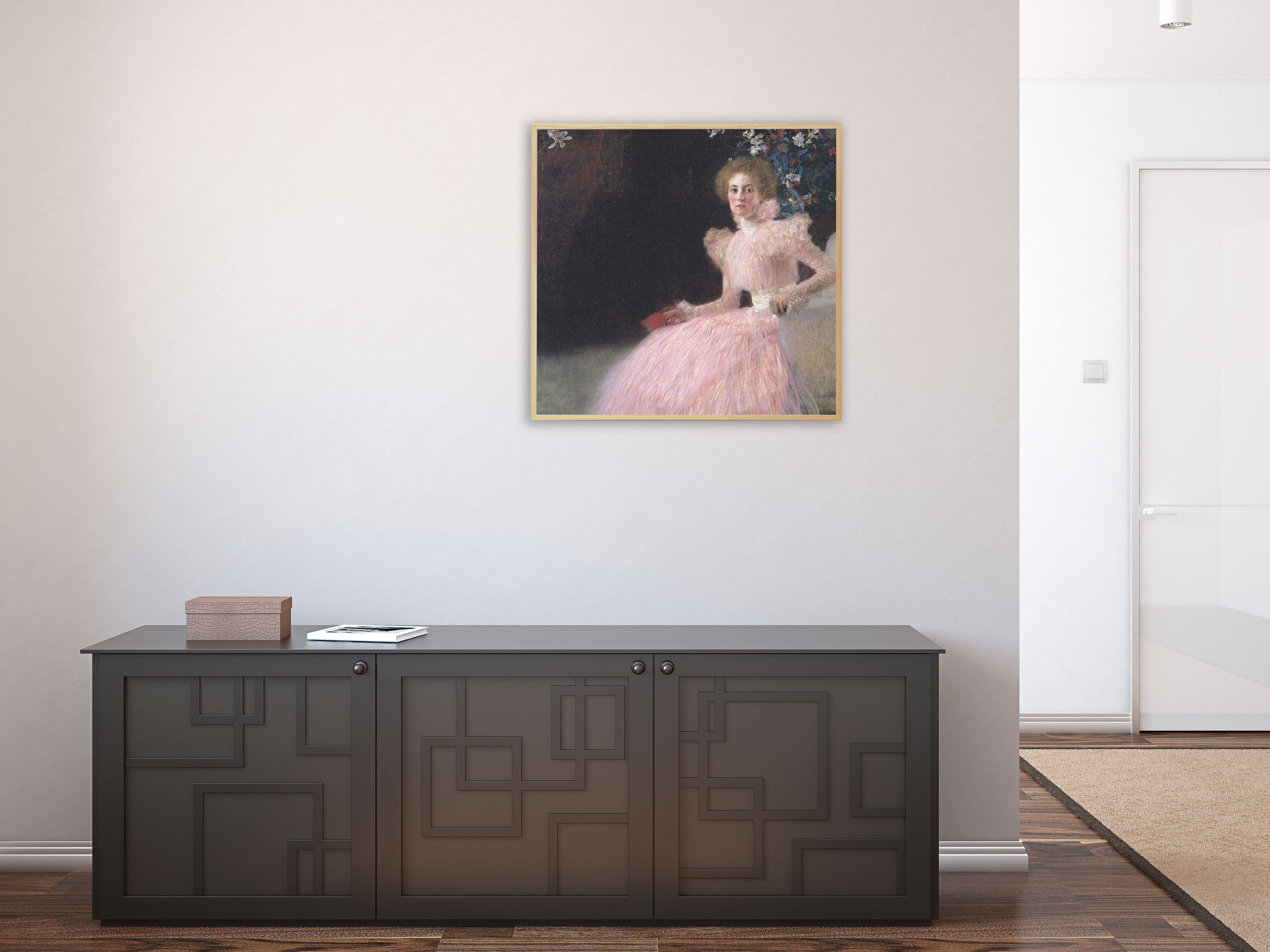 Gustav Klimt - Bildnis Sonja Knips von 1898, Bilderrahmen Eiche