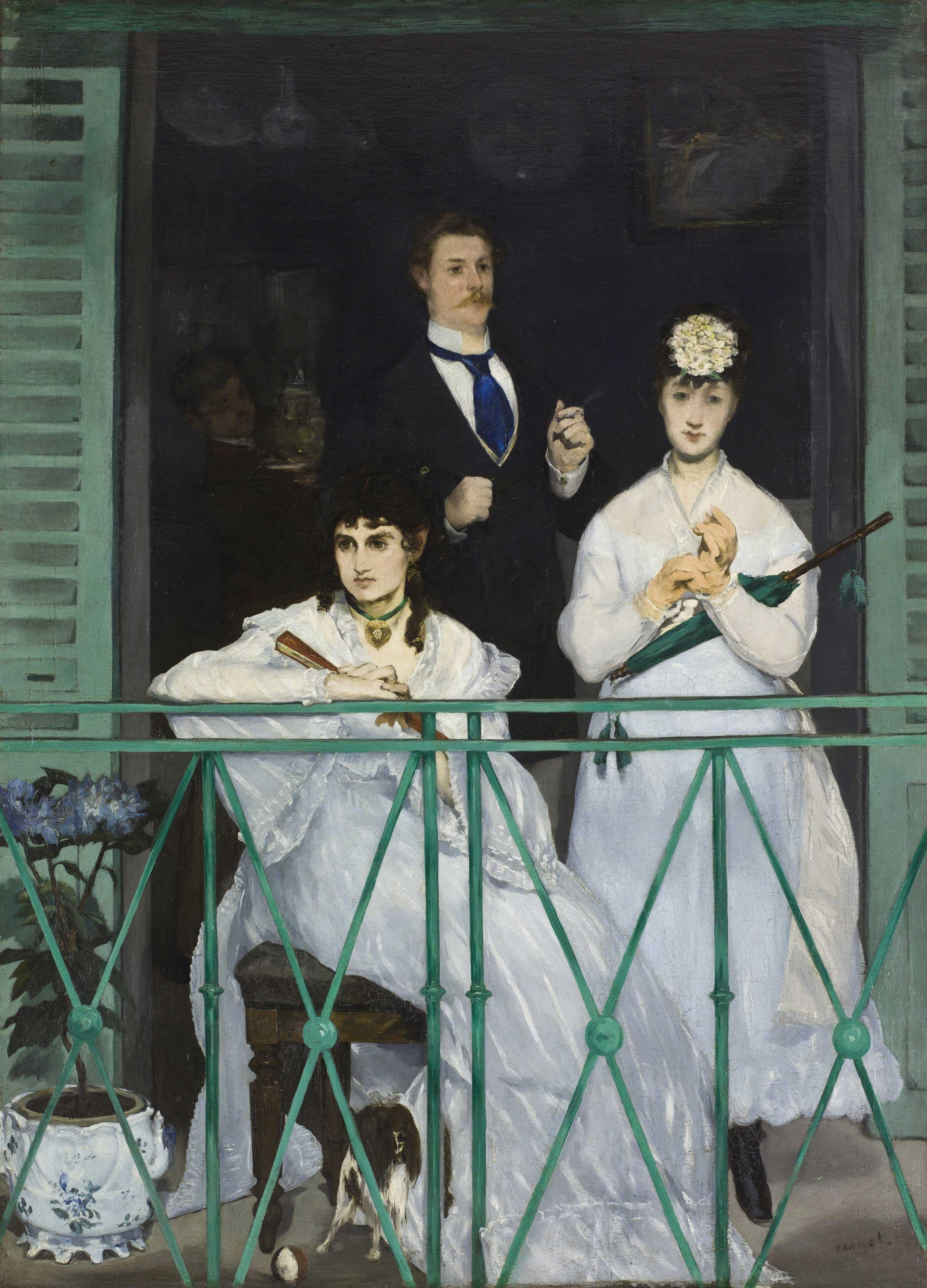 Edouard Manet - The Balcony, 1868, Schattenfugenrahmen Natur
