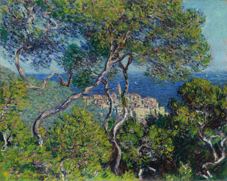 Claude Monet - Bordighera, 1884, Schattenfugenrahmen schwarz