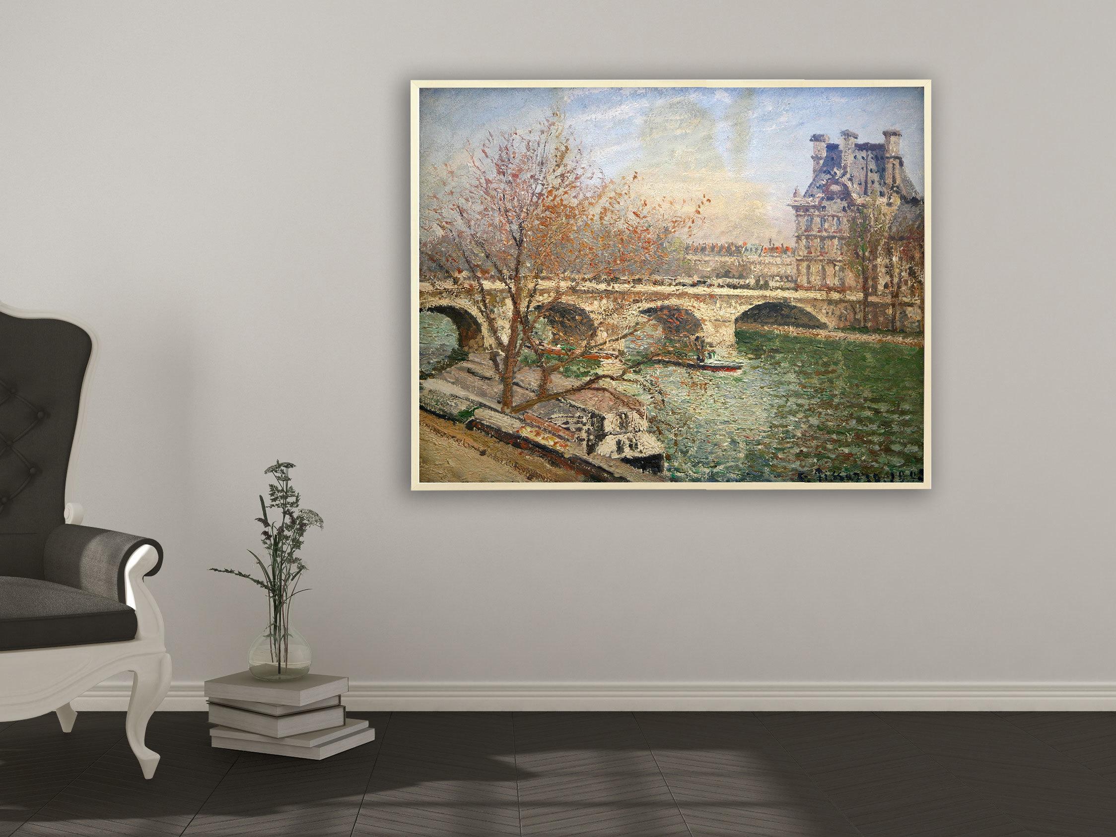 Camille Pissarro - Die königliche Brücke und der Flora Pavillion, Bilderrahmen Ahorn