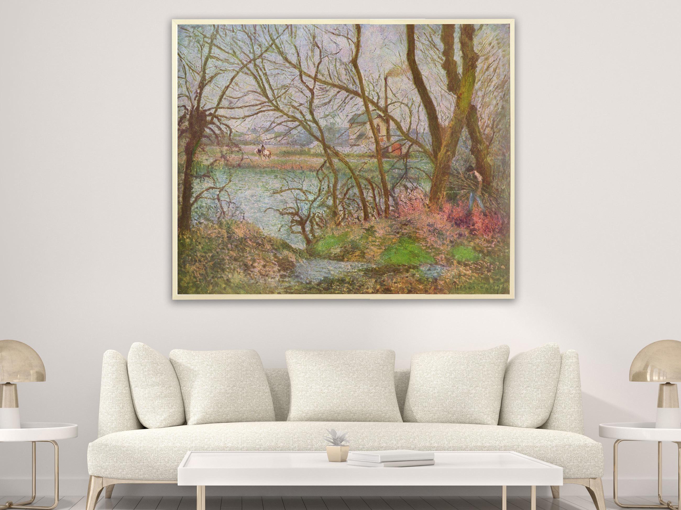 Camille Pissarro - Holzfäller von 1878, Bilderrahmen Ahorn