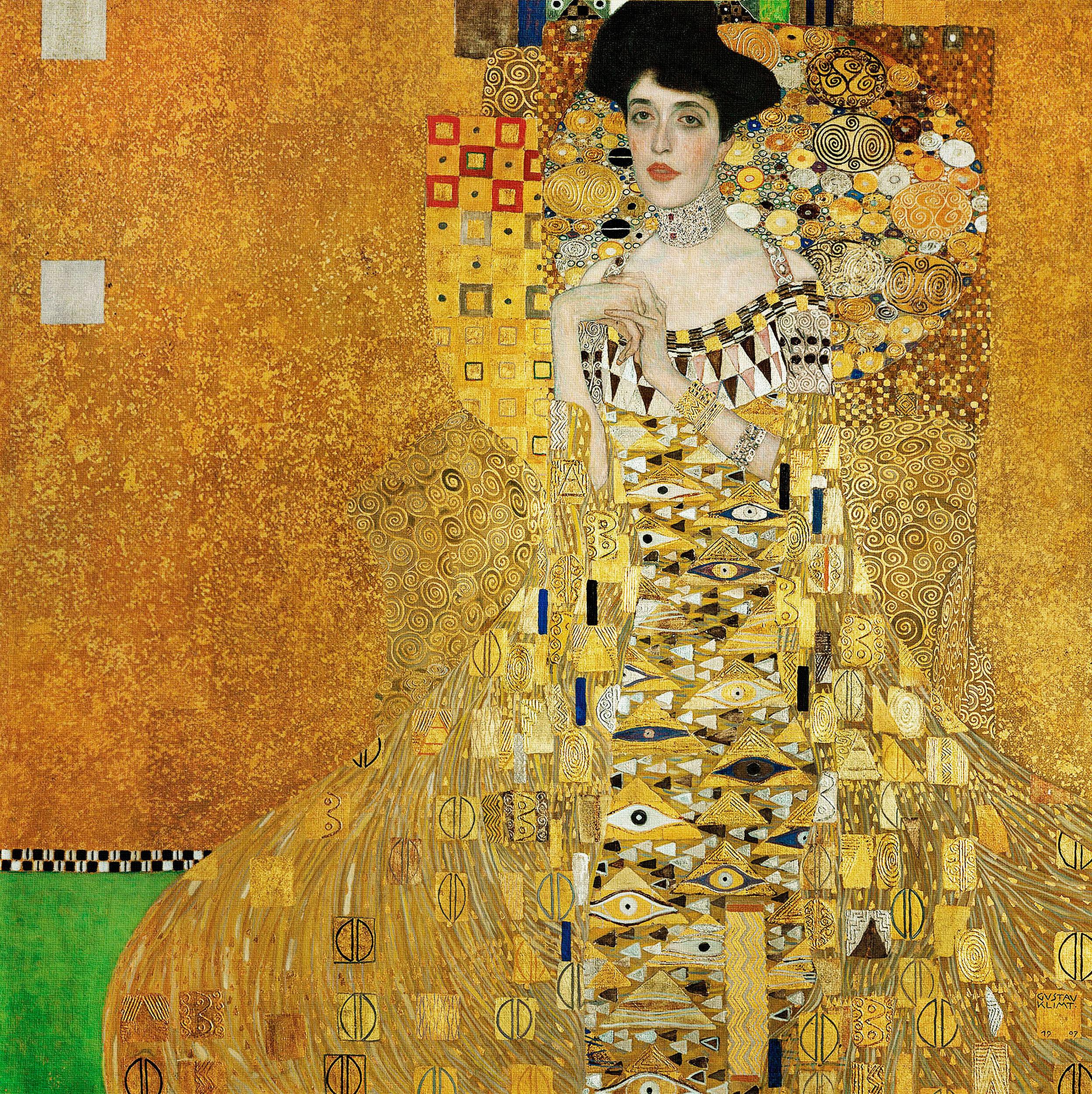 Gustav Klimt - Adele Bloch-Bauer's Portrait, 1907, Bilderrahmen Eiche