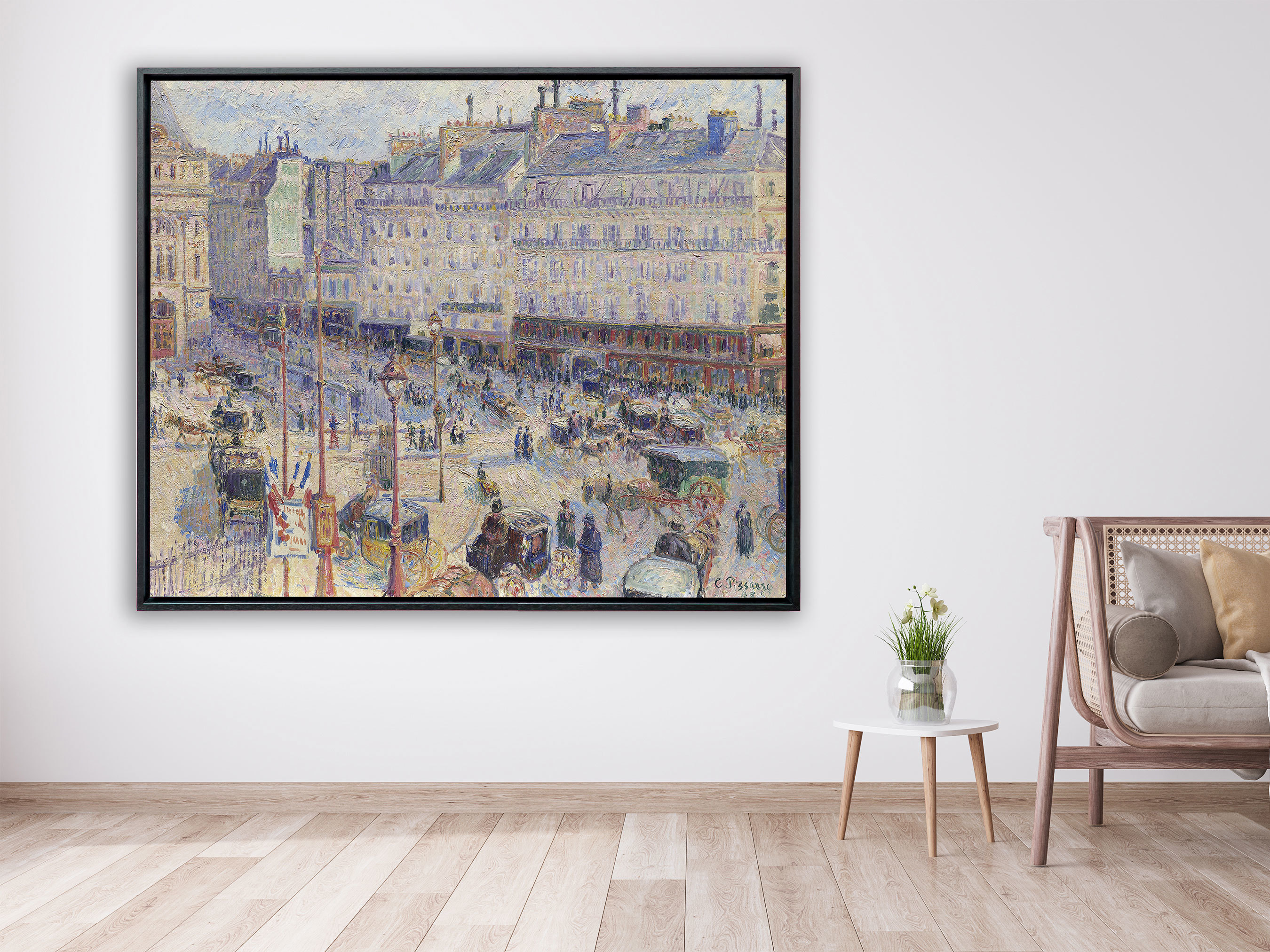 Camille Pissarro - Place du Havre, 1893, Schattenfugenrahmen schwarz