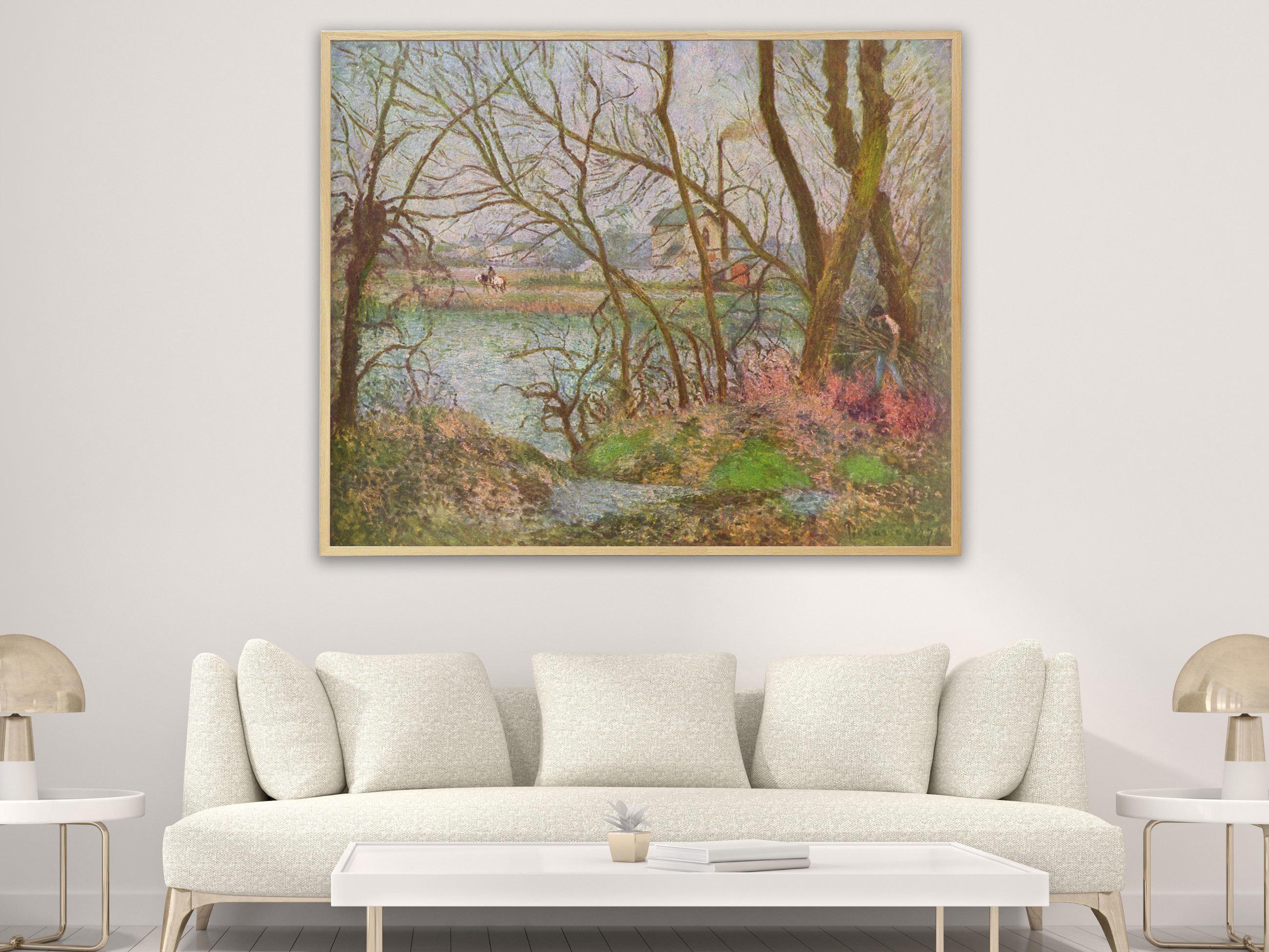 Camille Pissarro - Holzfäller von 1878, Bilderrahmen Eiche