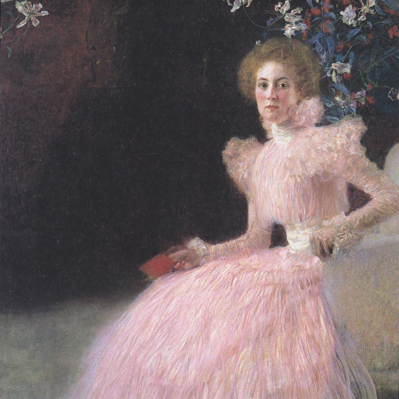 Gustav Klimt - Bildnis Sonja Knips von 1898, Rahmen Schattenfuge braun