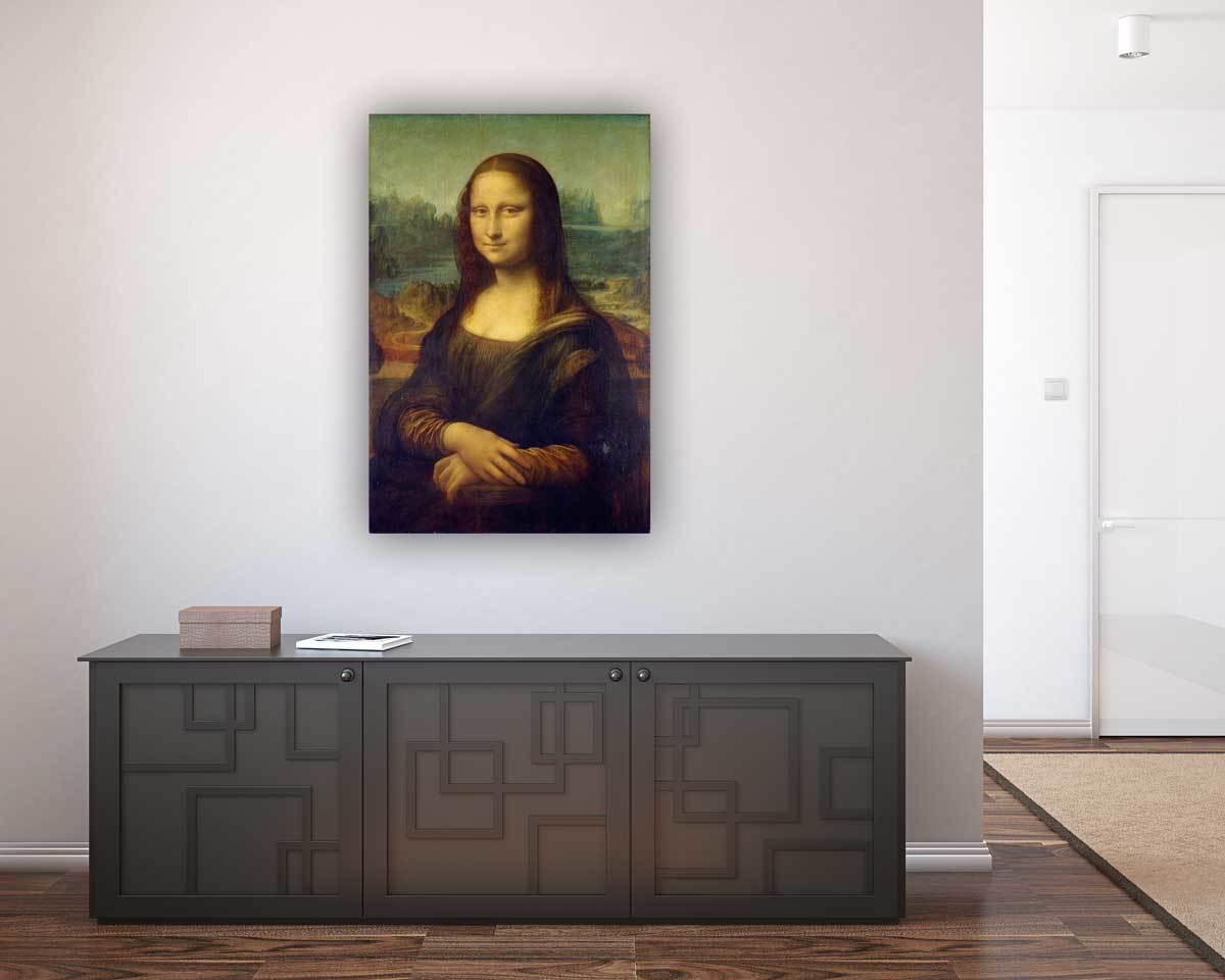 Leinwandbild Mona Lisa 90 cm x 120 cm