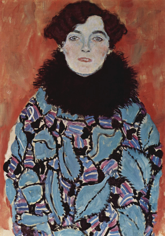 Gustav Klimt - Portrait von Johanna Staude, 1918, Schattenfugenrahmen weiß