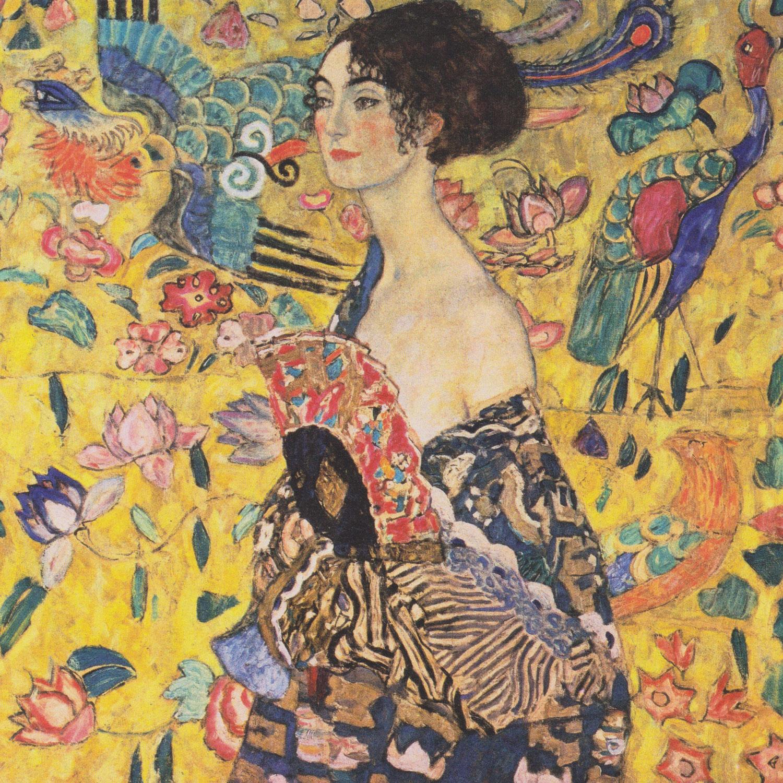 Gustav Klimt - Dame mit Fächer, 1917/1918