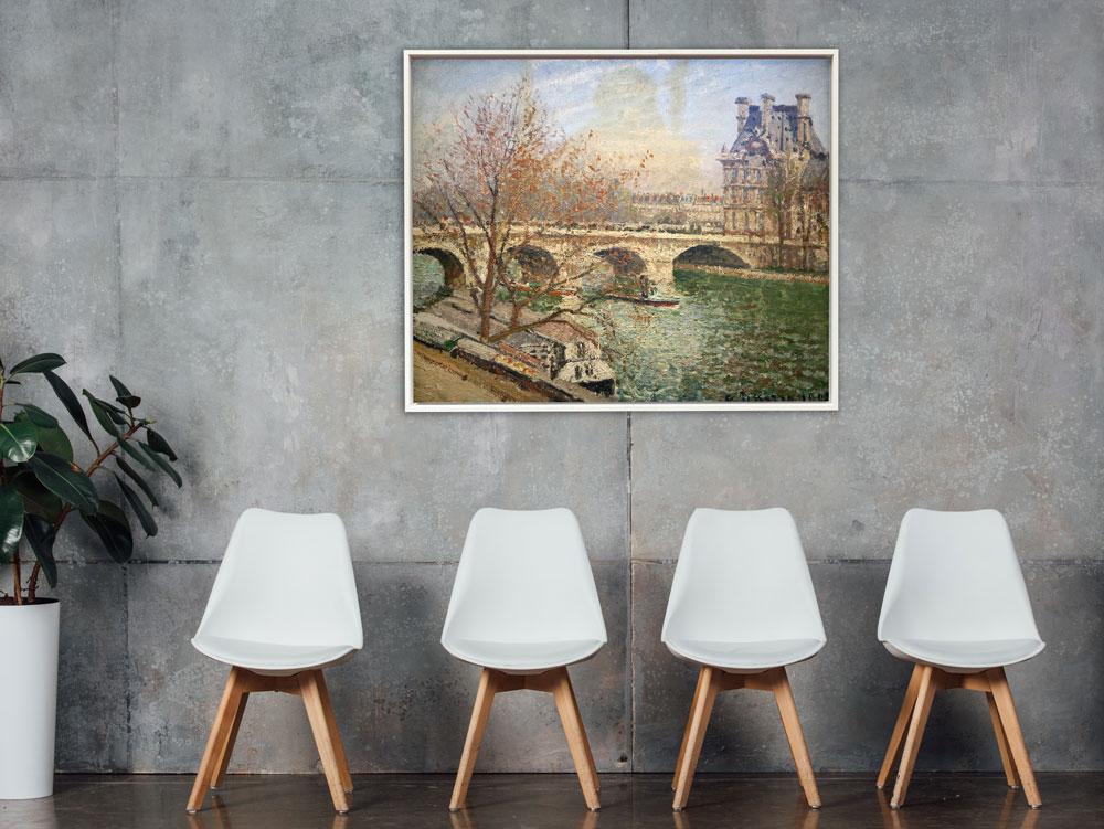 Camille Pissarro - Die königliche Brücke und der Flora Pavillon, Rahmen Schattenfuge weiß