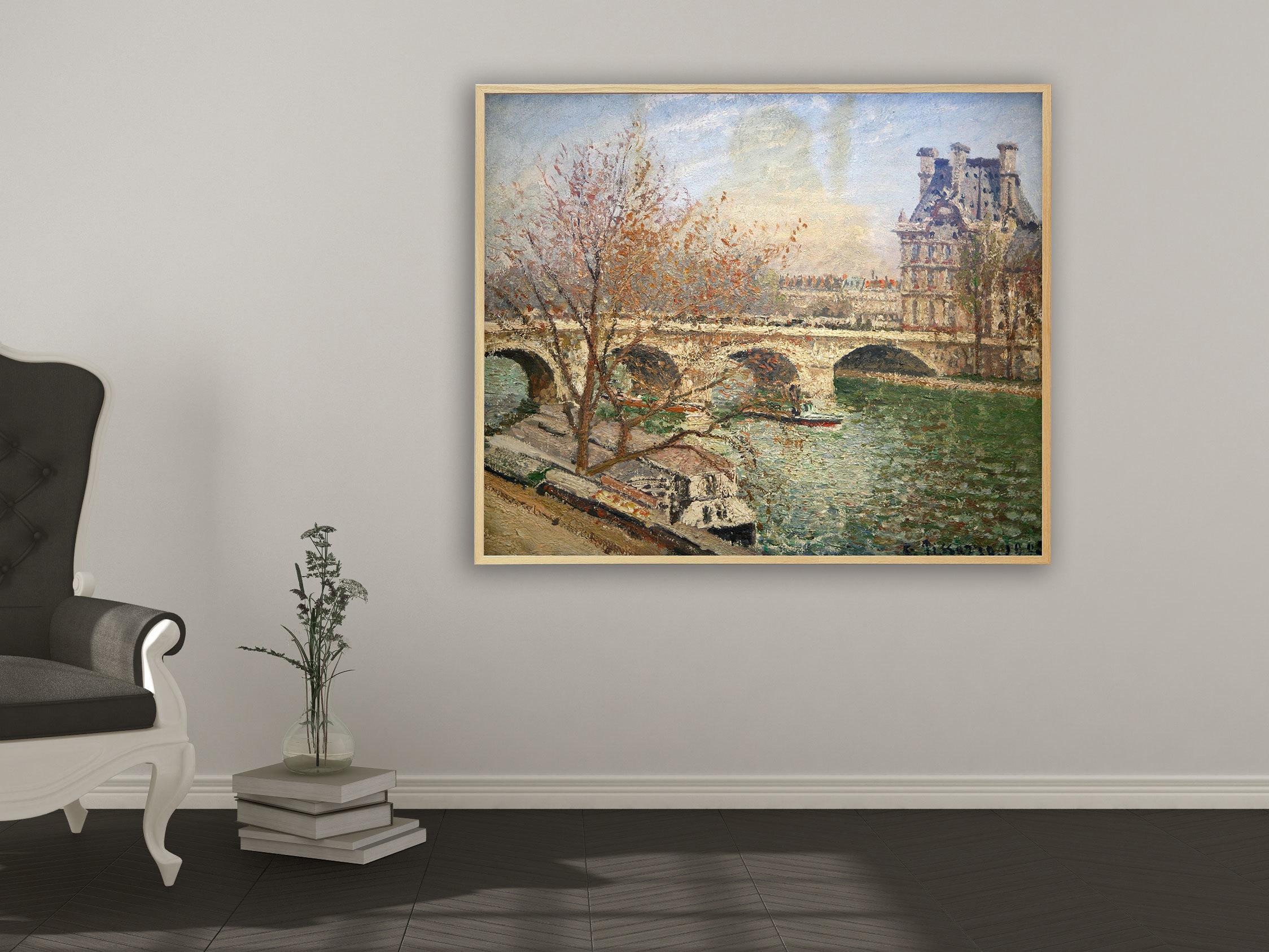 Camille Pissarro - Die königliche Brücke und der Flora Pavillon, Bilderrahmen Eiche