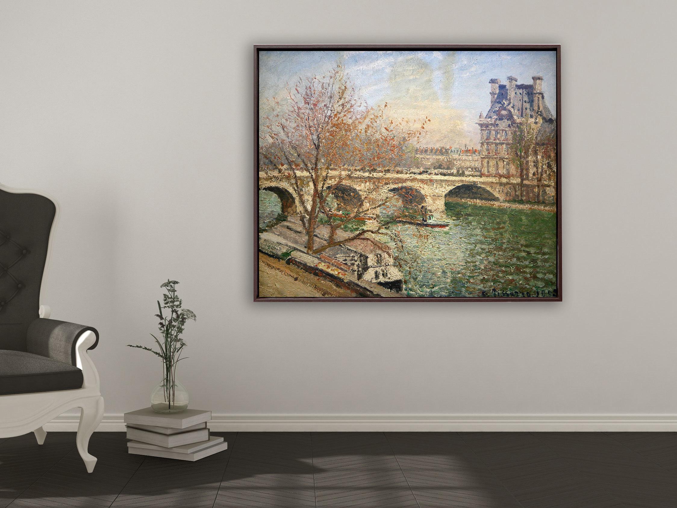 Camille Pissarro - Die königliche Brücke und der Flora Pavillion, Rahmen Schattenfuge braun