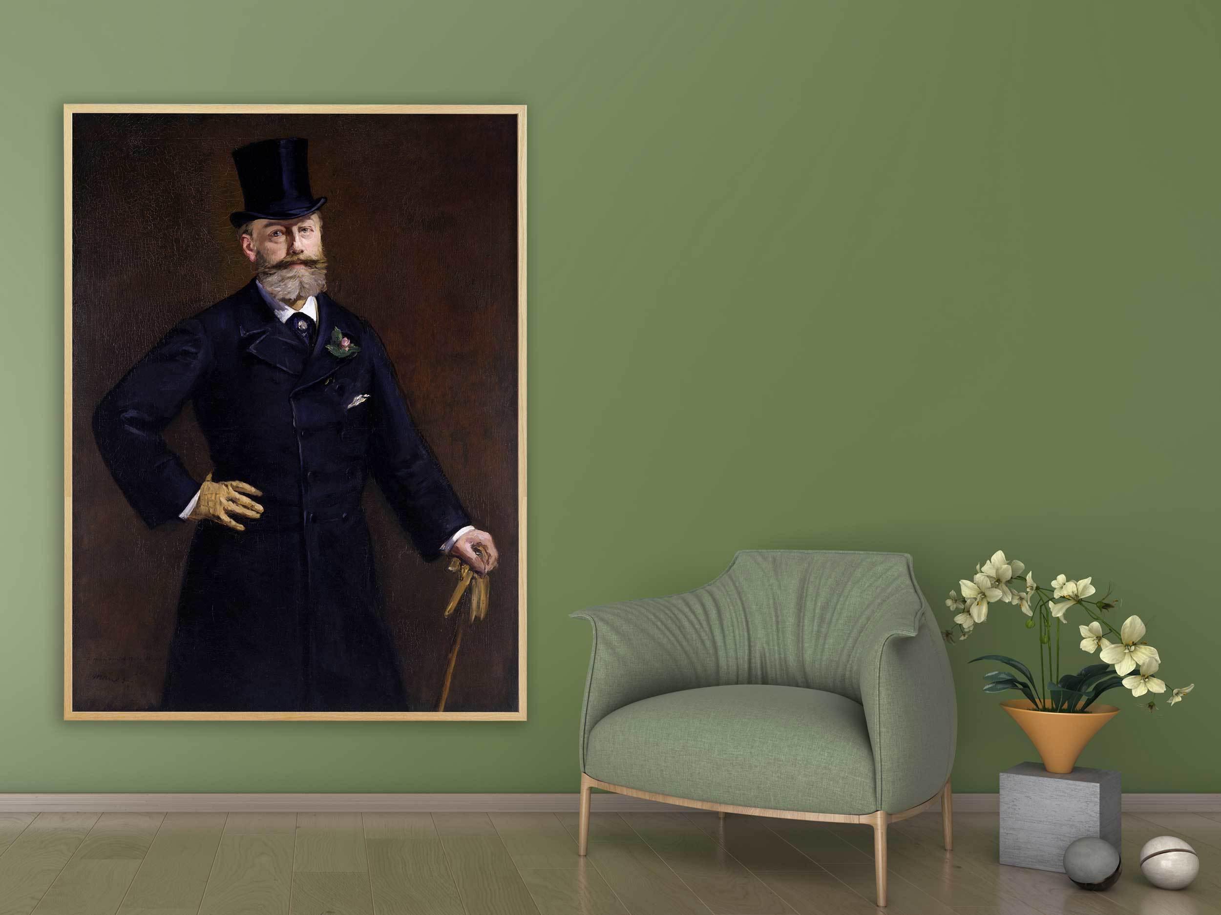 Edouard Manet - Antonin Proust, 1880, Bilderrahmen Eiche