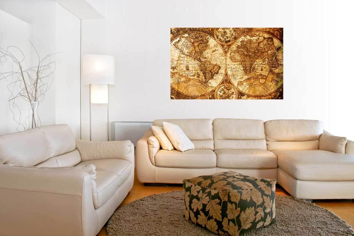 Leinwand Wandbild dekorative Malerei 3 St/ück Hirsch-Malerei Gem/älde auf Leinwand Wohnzimmer Rahmen aus Aluminiumlegierung modern