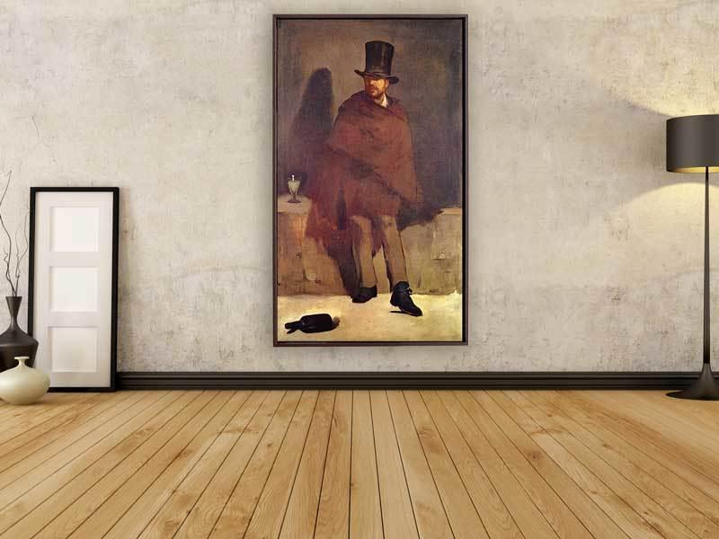 Edouard Manet - Der Absinthtrinker, 1859, Schattenfugenrahmen braun